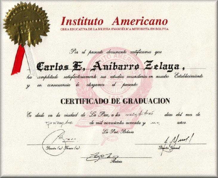 Certificado De Graduacion